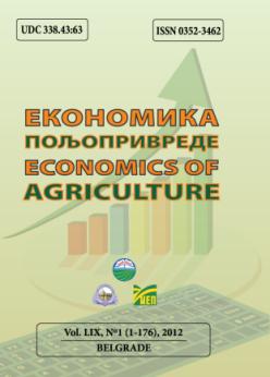 ECONOMICS OF AGRICULTURE